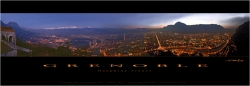 Grenoble by night 95x33 cm